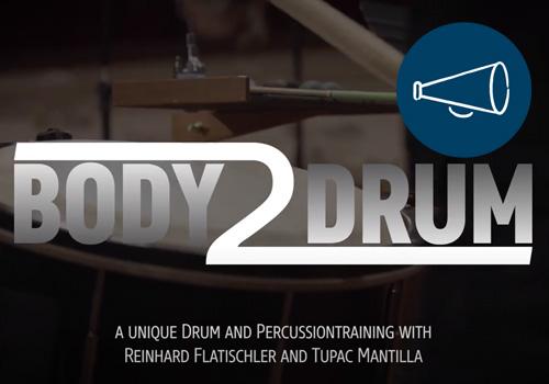 BODY2DRUM – mit Reinhard Flatischler und Tupac Mantilla