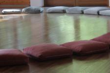 Sitzkissen im Seminarraum
